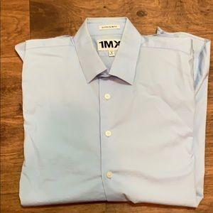 Light blue express slim fit dress shirt